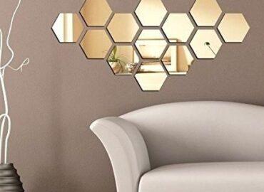 Зеркальная панель шестигранник
