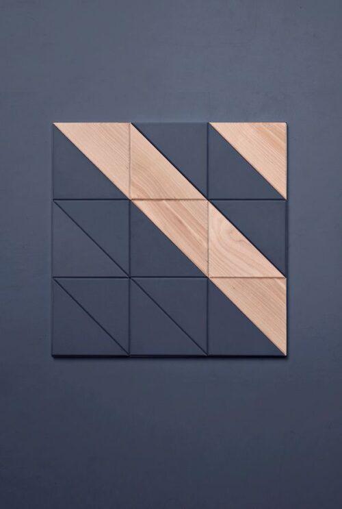 Стеновая 3D панель треугольник береза