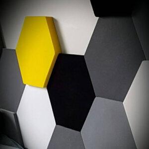 Стеновая 3D панель шестигранник ПВХ (PVC)