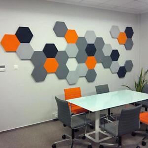Крашенная стеновая 3D панель Шестигранник