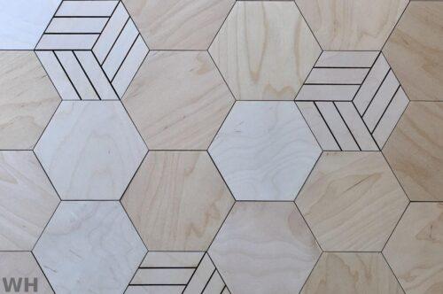 Стеновая 3D панель шестигранник с рисунком