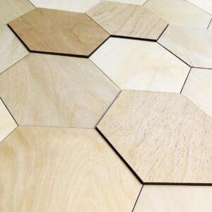 Стеновая 3D панель шестигранник